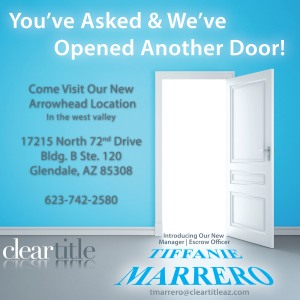 Come visit Tiffanie and Bryan at our new Arrowhead location in the West Valley!