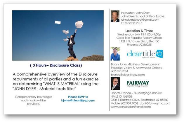 disclosure class